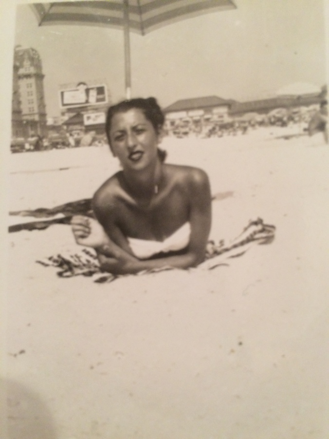 Nonnie on the beach